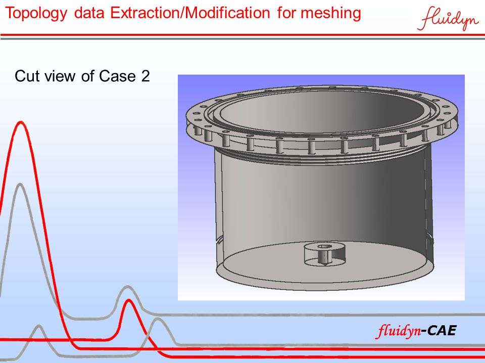 Cut view of Case 2 Topology data Extraction/Modification for meshing fluidyn -CAE