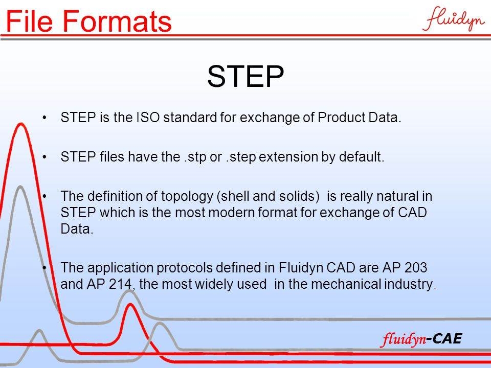 STEP STEP is the ISO standard for exchange of Product Data.