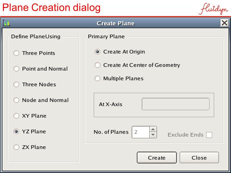 Plane Creation dialog