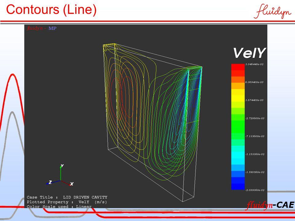 Contours (Line) fluidyn -CAE