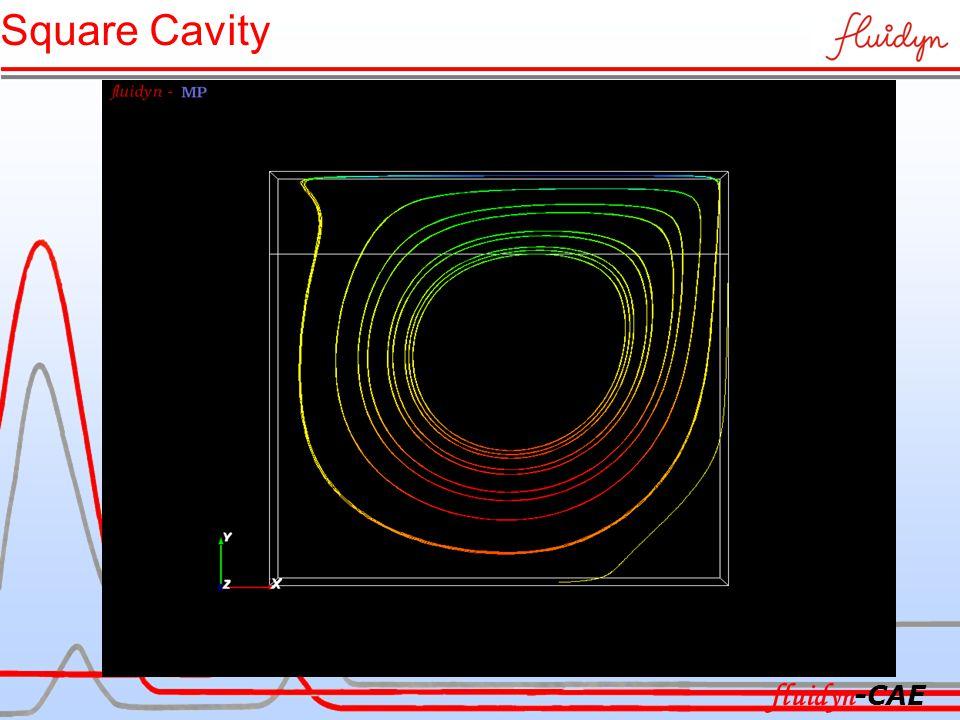 Square Cavity fluidyn -CAE