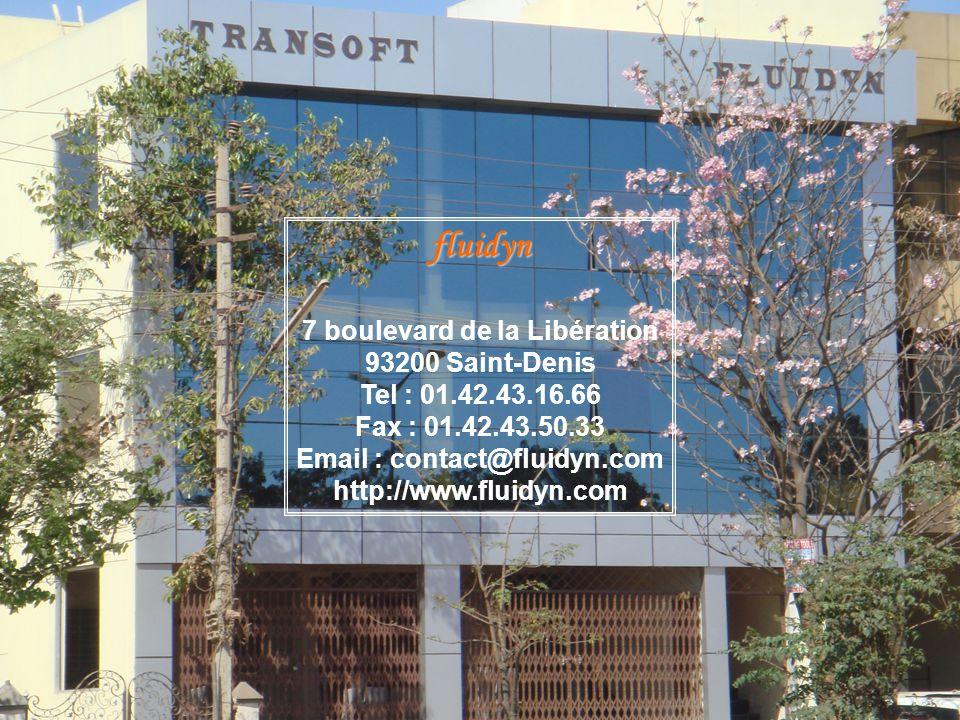 fluidyn 7 boulevard de la Libération 93200 Saint-Denis Tel : 01.42.43.16.66 Fax : 01.42.43.50.33 Email : contact@fluidyn.com http://www.fluidyn.com