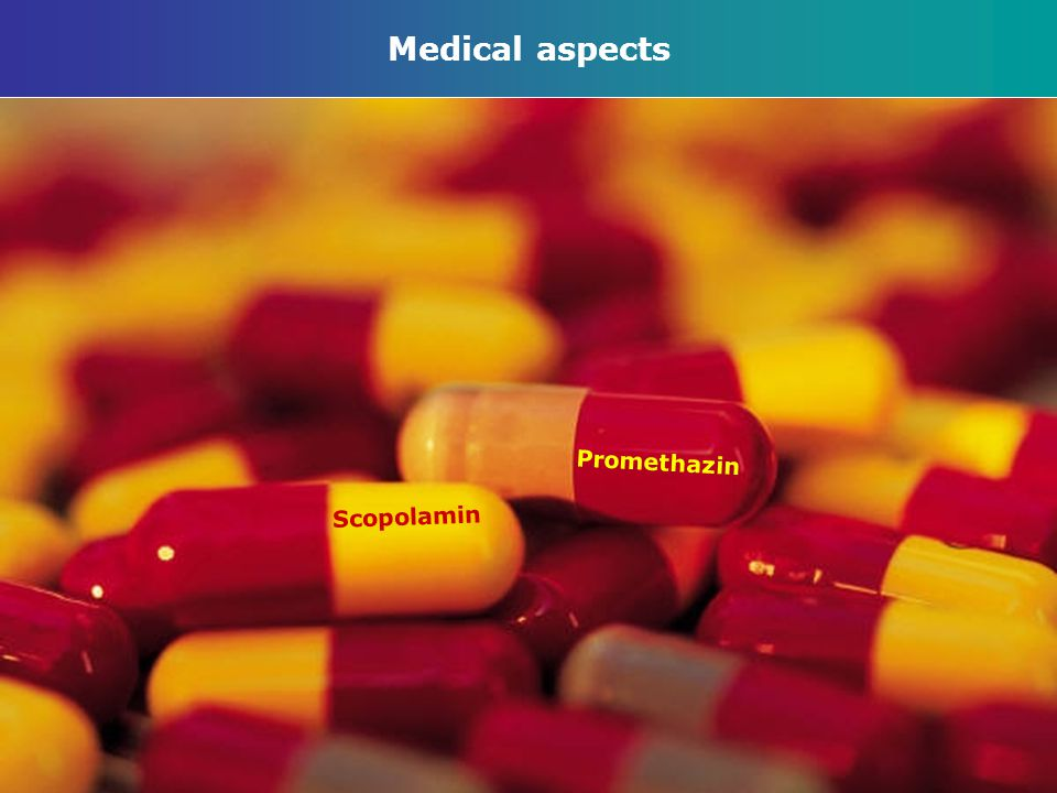 Medical aspects Scopolamin Promethazin