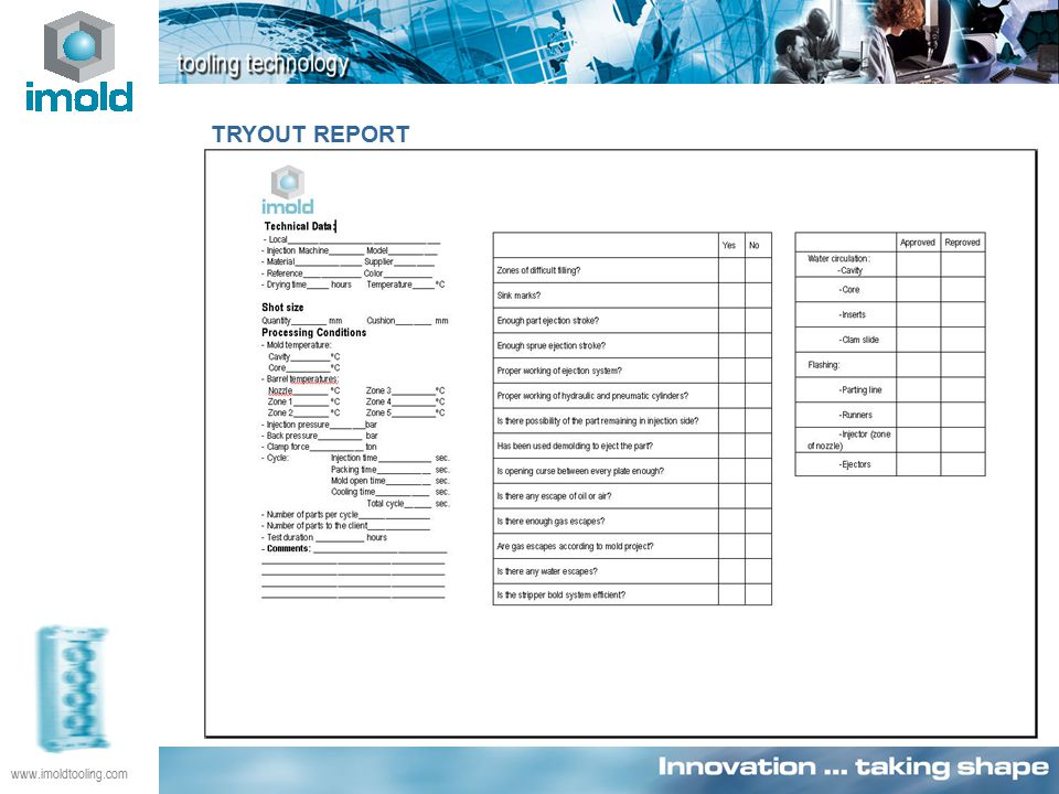TRYOUT REPORT