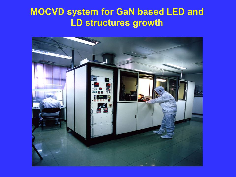 MOCVD system for GaN based LED and LD structures growth