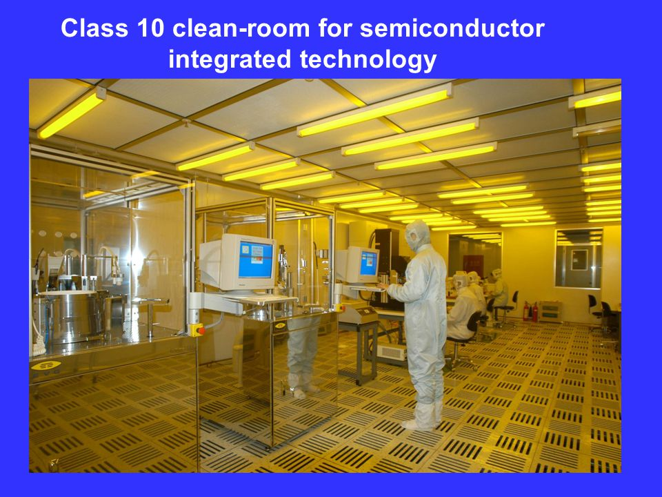 Class 10 clean-room for semiconductor integrated technology