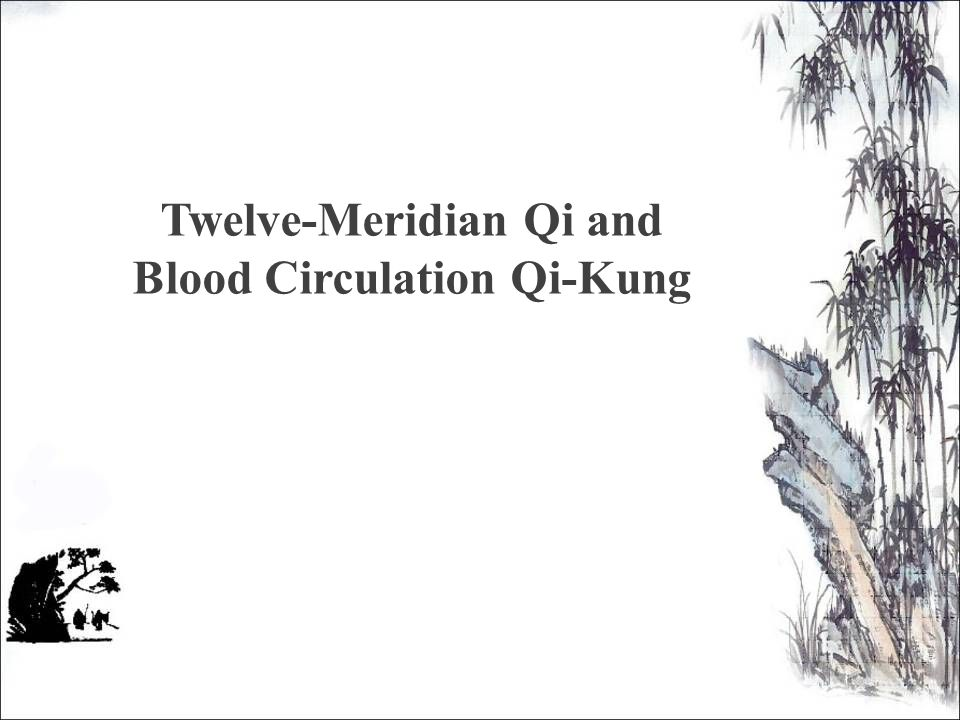 Twelve-Meridian Qi and Blood Circulation Qi-Kung
