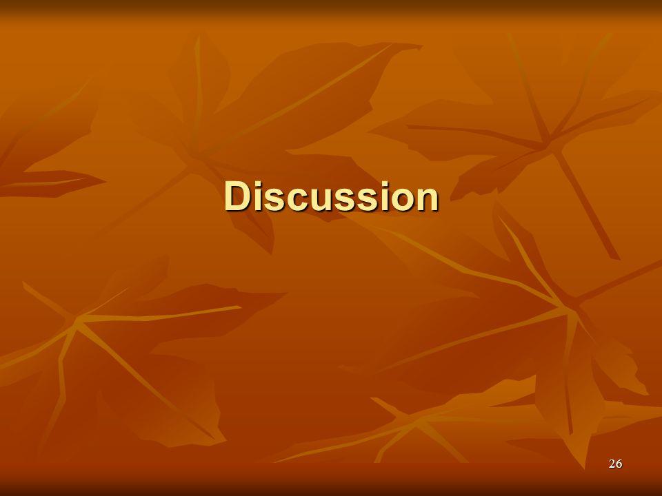 26 Discussion
