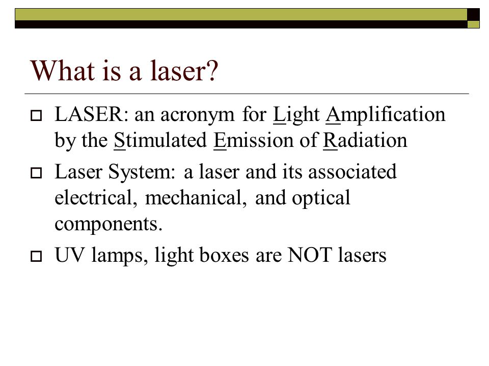 ANSI Z136.1-2007 Section 1: General  Laser Principal Investigator (LPI) – cont'd For any known or suspected accident relating to a laser under his/her authority, enact appropriate response plan, which includes notification of the LSO.
