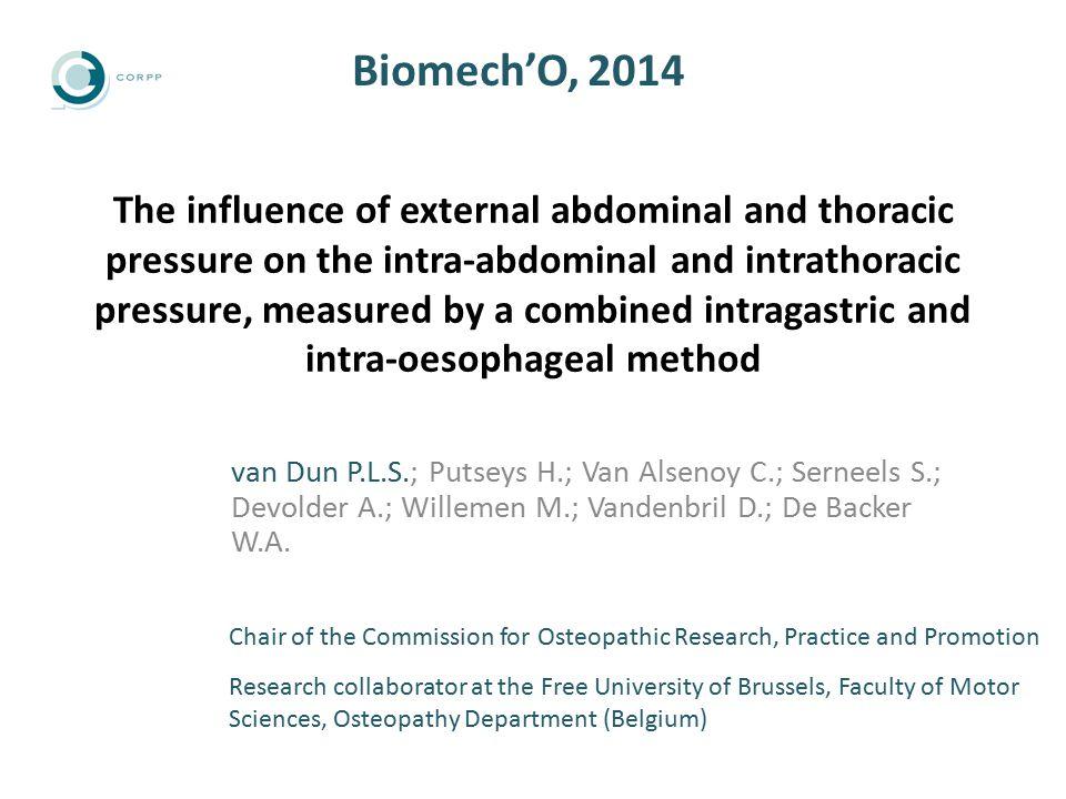 Results t-values external pressure on the abdomen (mm Hg) (internal thoracic sensor) ** : p  0,01 **