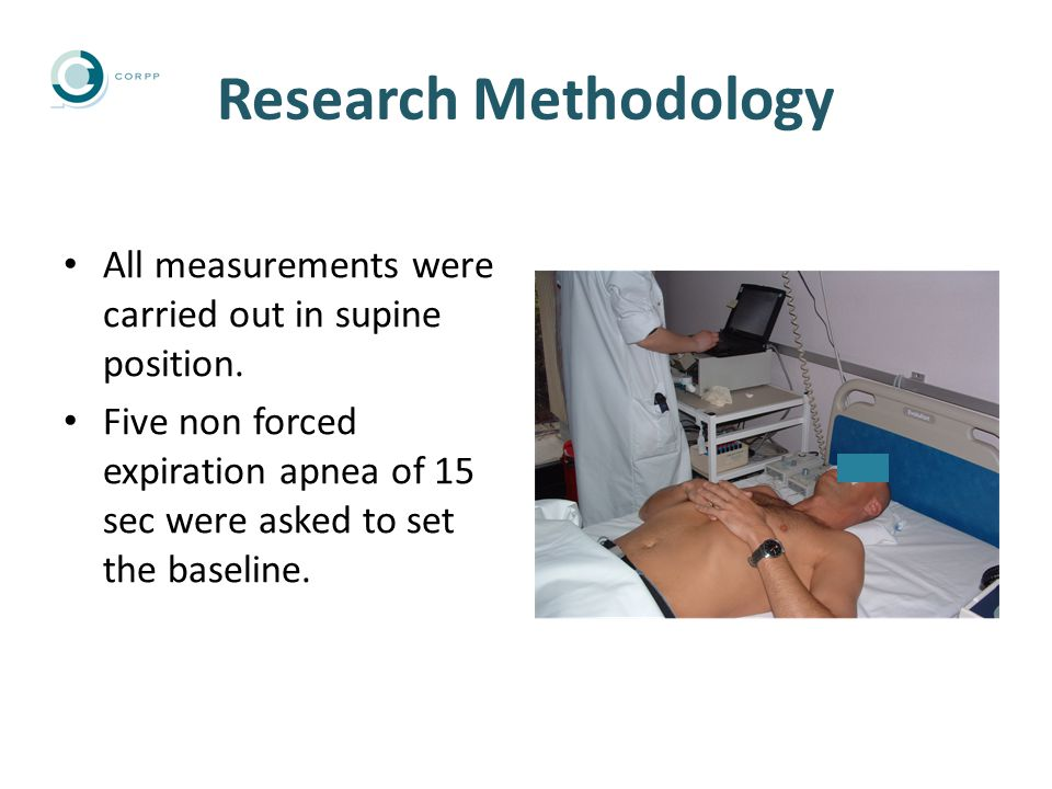 Research Methodology All measurements were carried out in supine position.