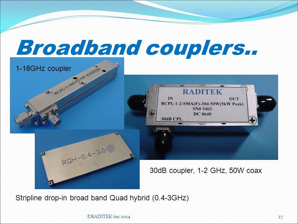 Broadband couplers..