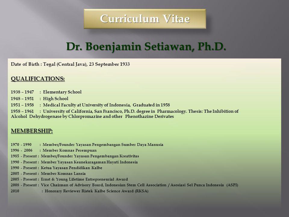 Presentasi 16 Sept.2011, FIMA, YARSIBoenjamin Setiawan,dr.,Ph.D.2