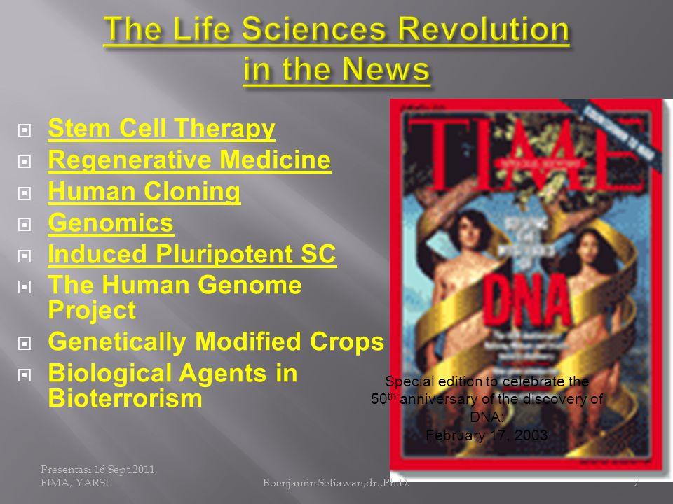 Presentasi 16 Sept.2011, FIMA, YARSIBoenjamin Setiawan,dr.,Ph.D.8 Global Aging