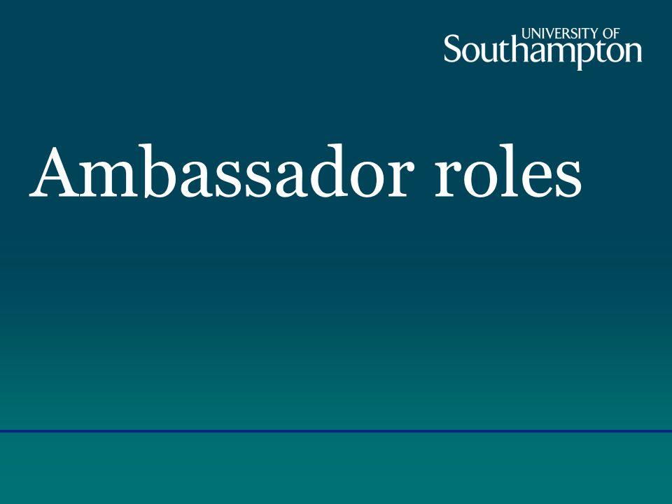 Ambassador roles