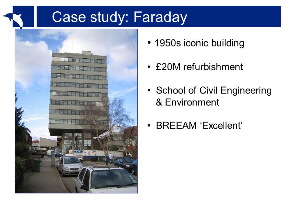 Case study: Faraday 1950s iconic building £20M refurbishment School of Civil Engineering & Environment BREEAM 'Excellent'