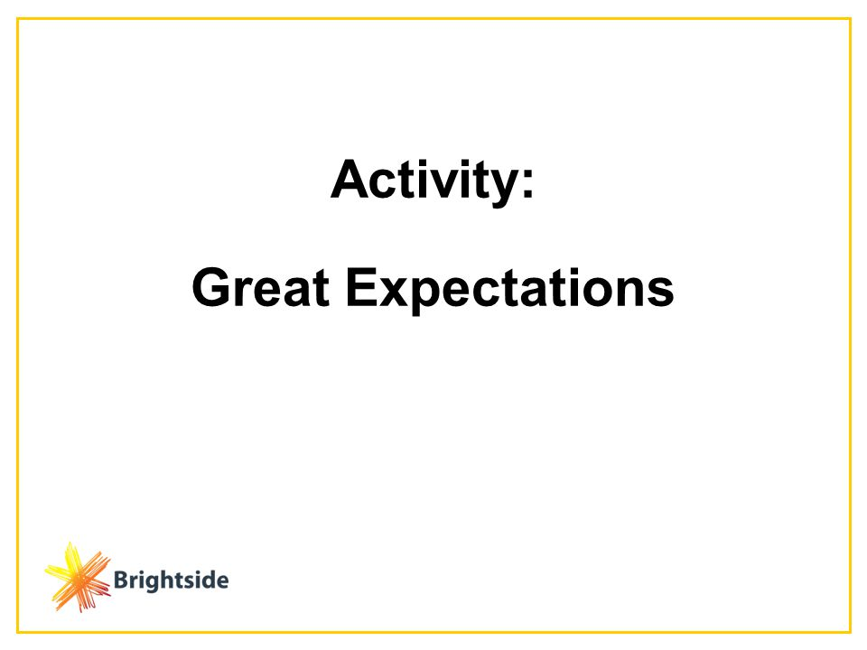 Activity: Great Expectations