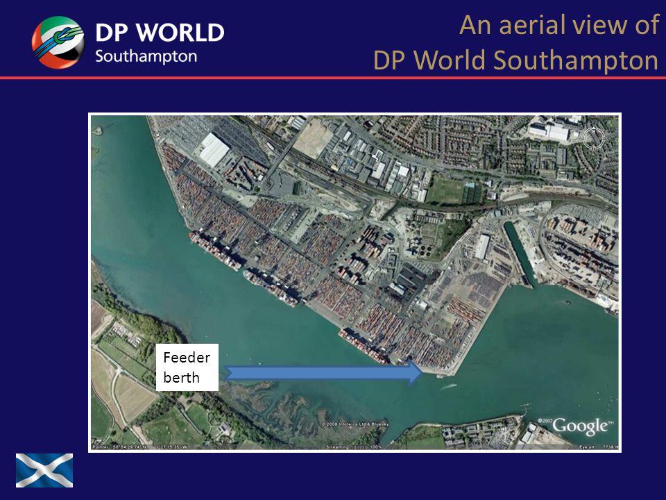 An aerial view of DP World Southampton Feeder berth