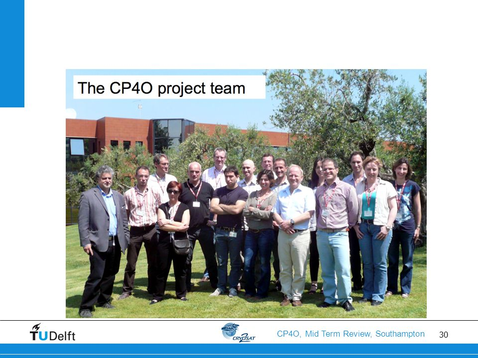 30 CP4O, Mid Term Review, Southampton