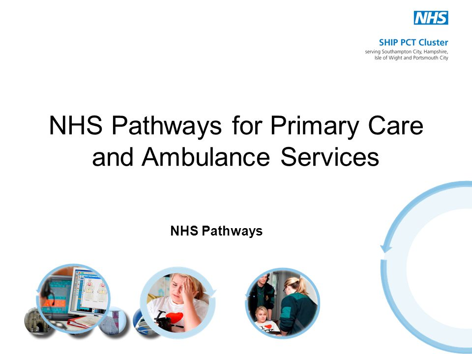 NHS Pathways for Primary Care and Ambulance Services NHS Pathways