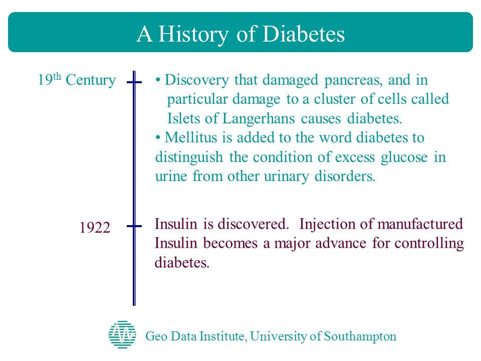 Geo Data Institute, University of Southampton Control of Diabetes Diabetes Control Diet Exercise Medication Education Regular monitoring