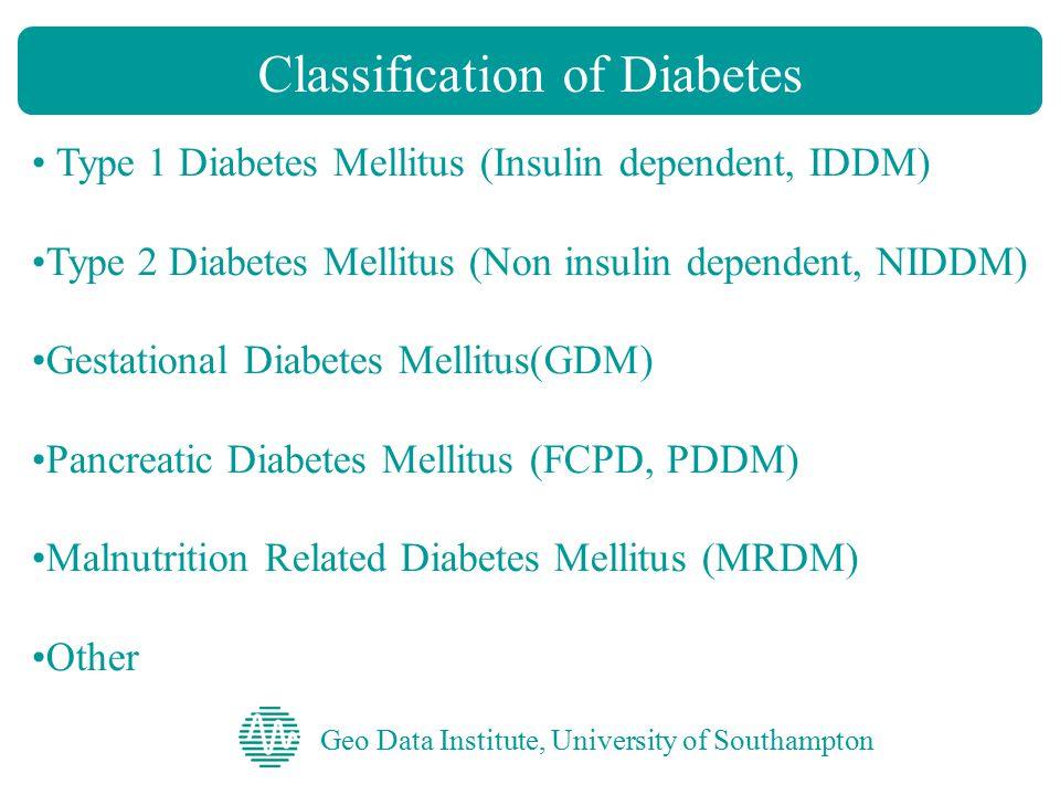 Geo Data Institute, University of Southampton Wellcome Diabetes Study