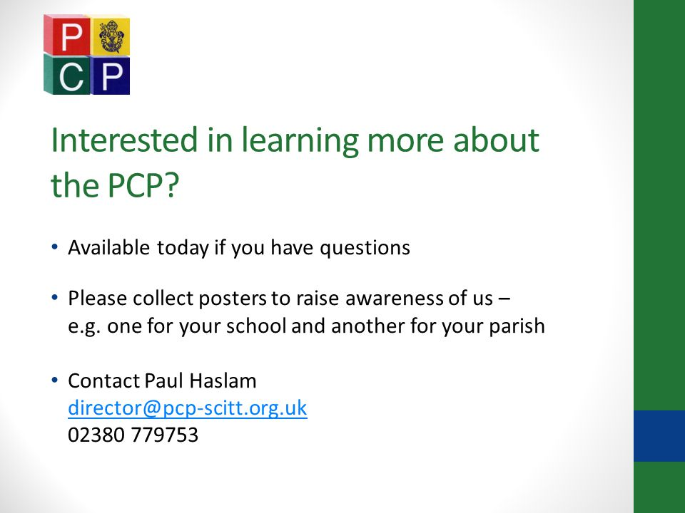 Interested in learning more about the PCP.