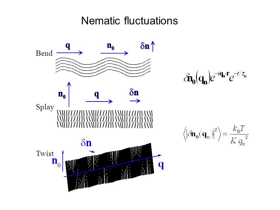 Bend Splay Twist Nematic fluctuations