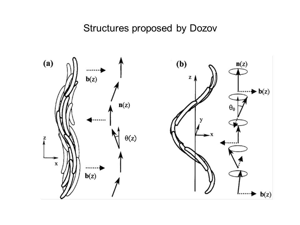 Structures proposed by Dozov
