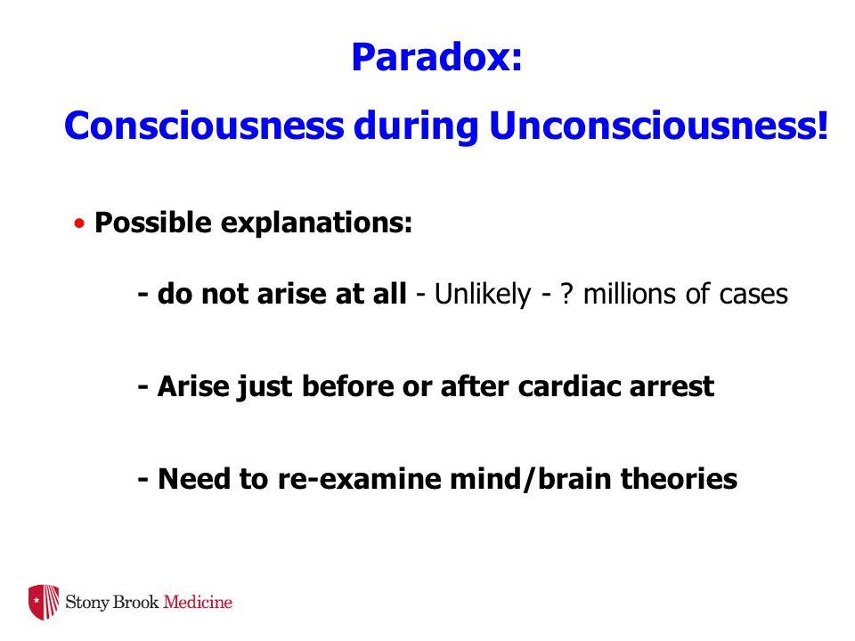 Paradox: Consciousness during Unconsciousness.