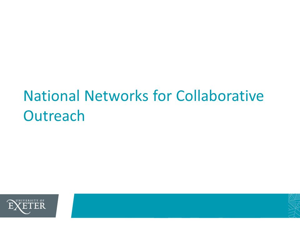 National Networks for Collaborative Outreach
