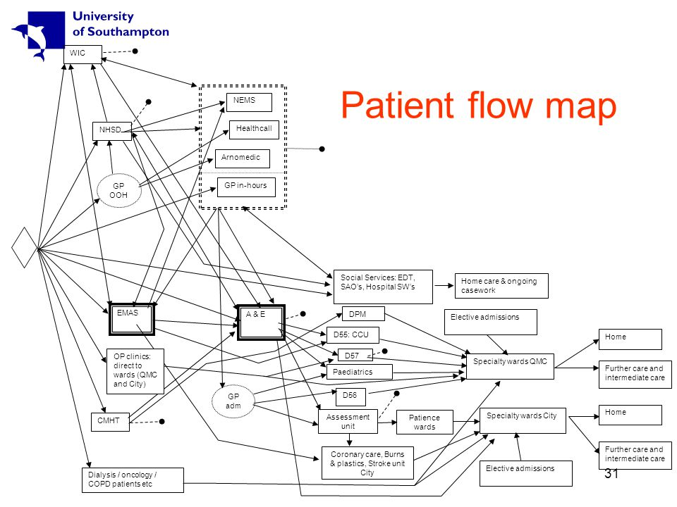 31 Patient flow map