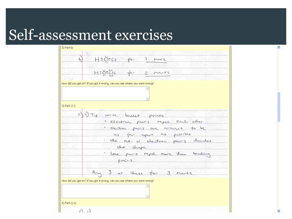 Self-assessment exercises