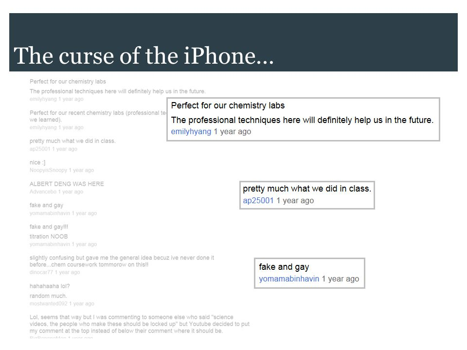 The curse of the iPhone…
