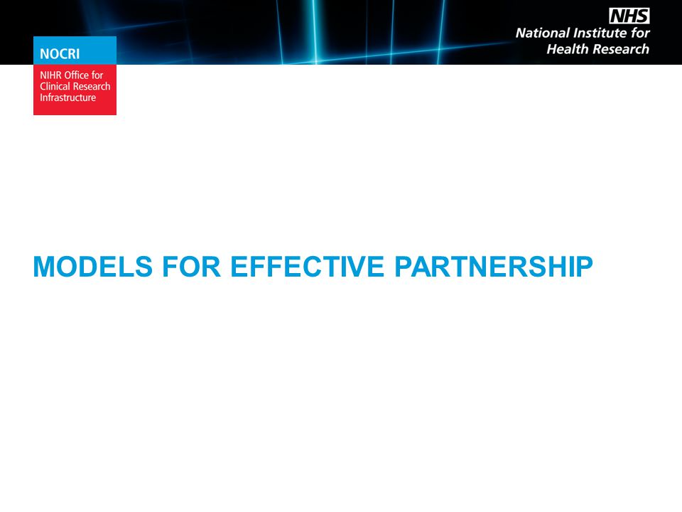 MODELS FOR EFFECTIVE PARTNERSHIP