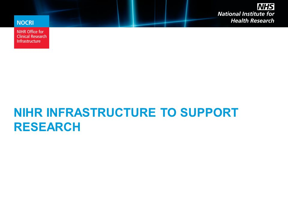 To work with the Partnerships or any of the NIHR infrastructure contact the team at: nocri@nihr.ac.uk www.nocri.nihr.ac.uk