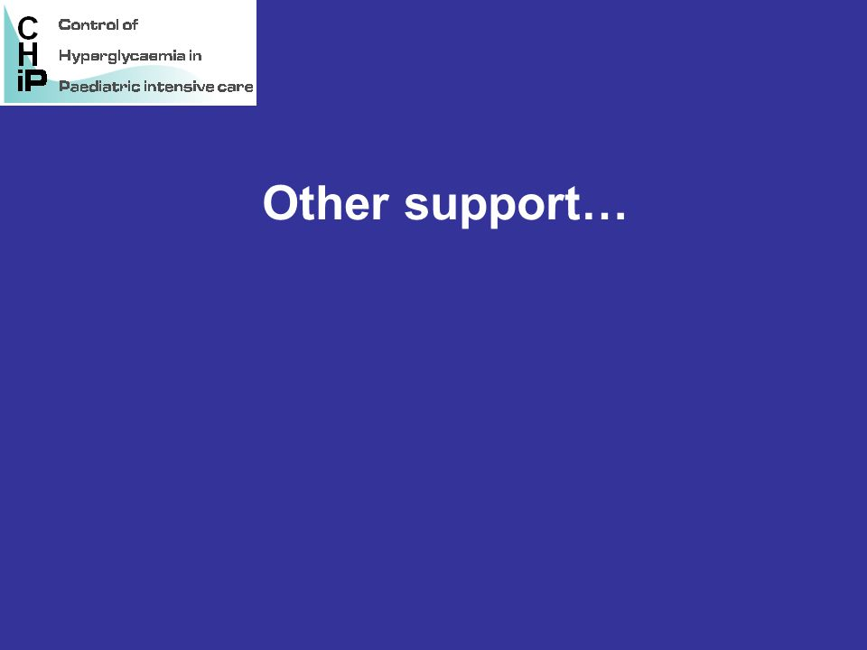 Other support…