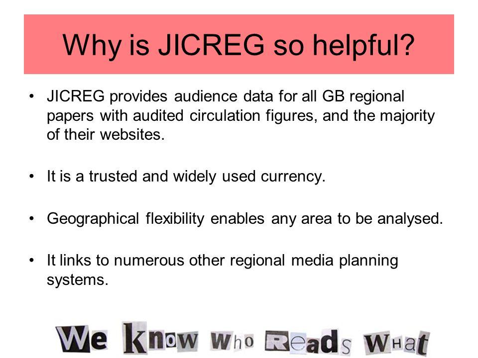 Why is JICREG so helpful.