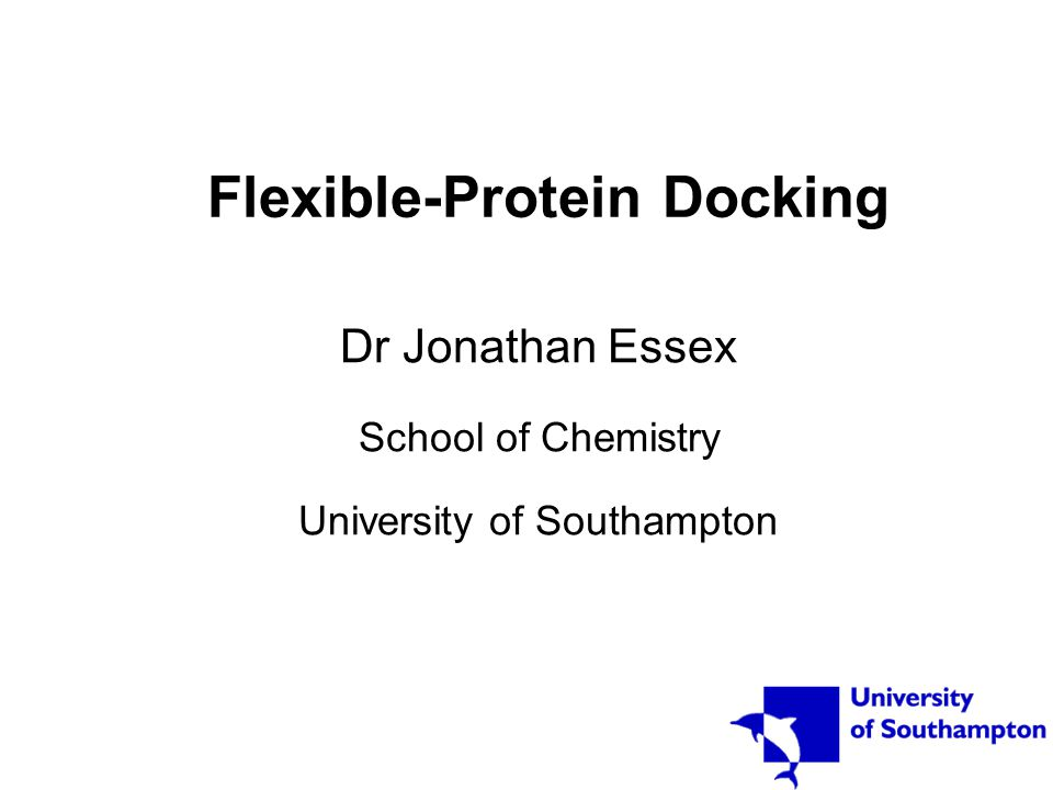 Flexible protein docking – a case study In screening, enrichment improved compared to docking against individual conformations ACD screened against L99A M102Q mutant of T4L –18 compounds that were predicted to bind and change cavity conformation, tested –14 found to bind –X-ray structures obtained on 7