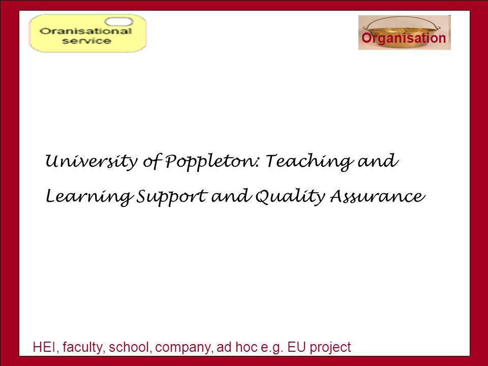 HEI, faculty, school, company, ad hoc e.g.