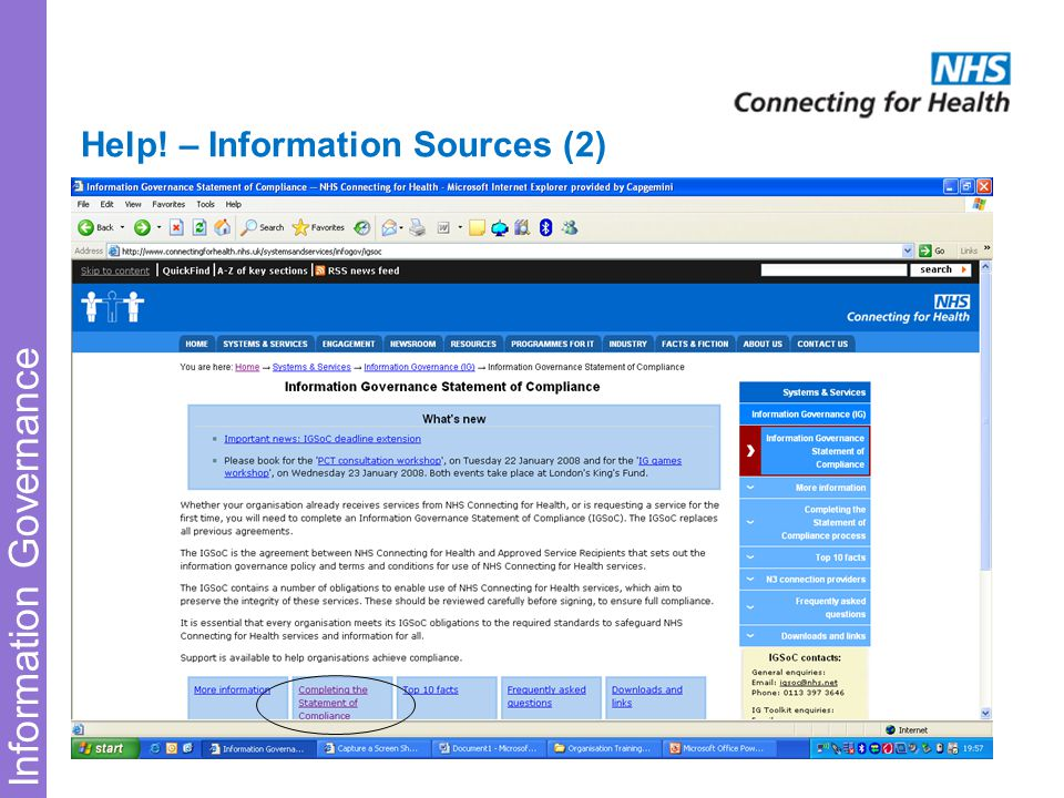 Information Governance Help! – Information Sources (2)