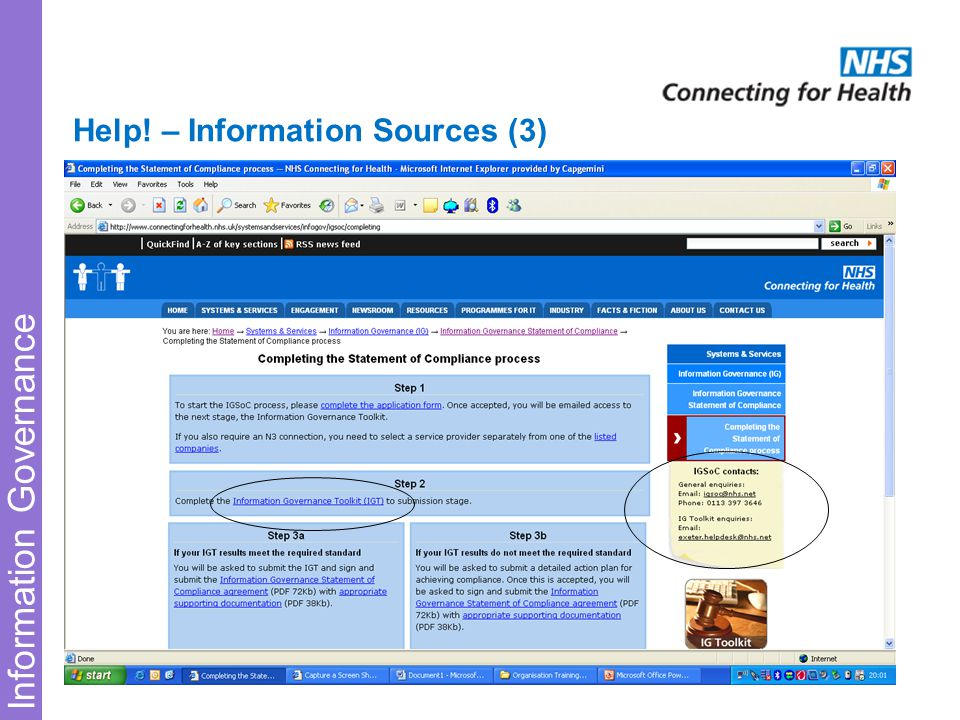 Information Governance Help! – Information Sources (3)