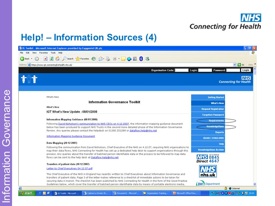 Information Governance Help! – Information Sources (4)