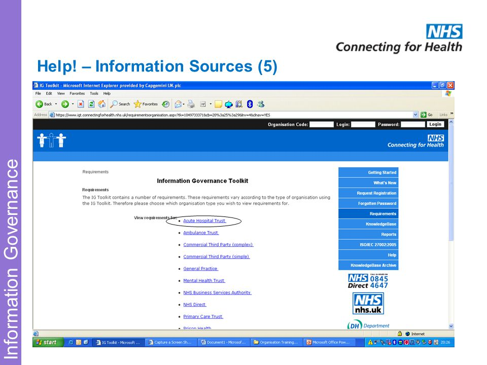 Information Governance Help! – Information Sources (5)