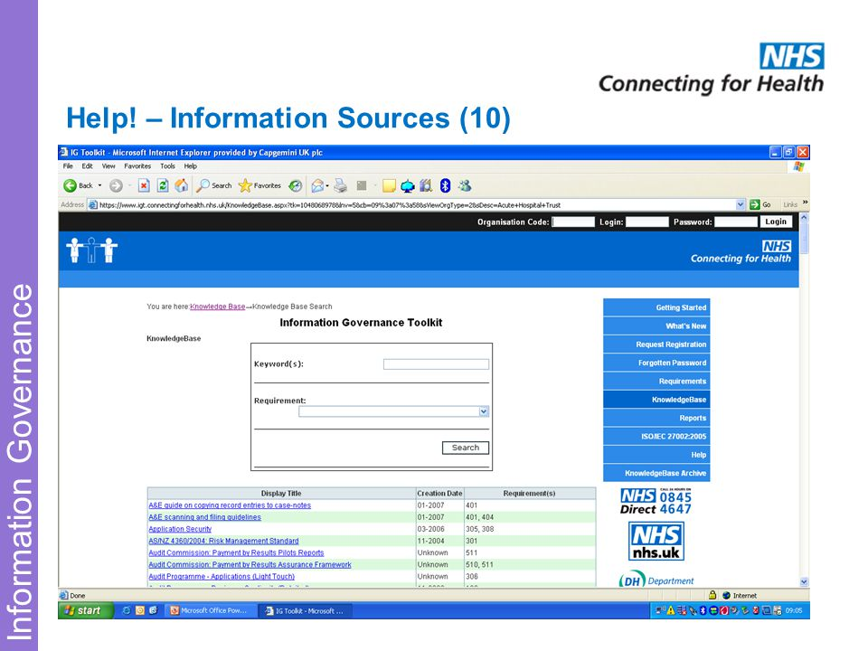 Information Governance Help! – Information Sources (10)
