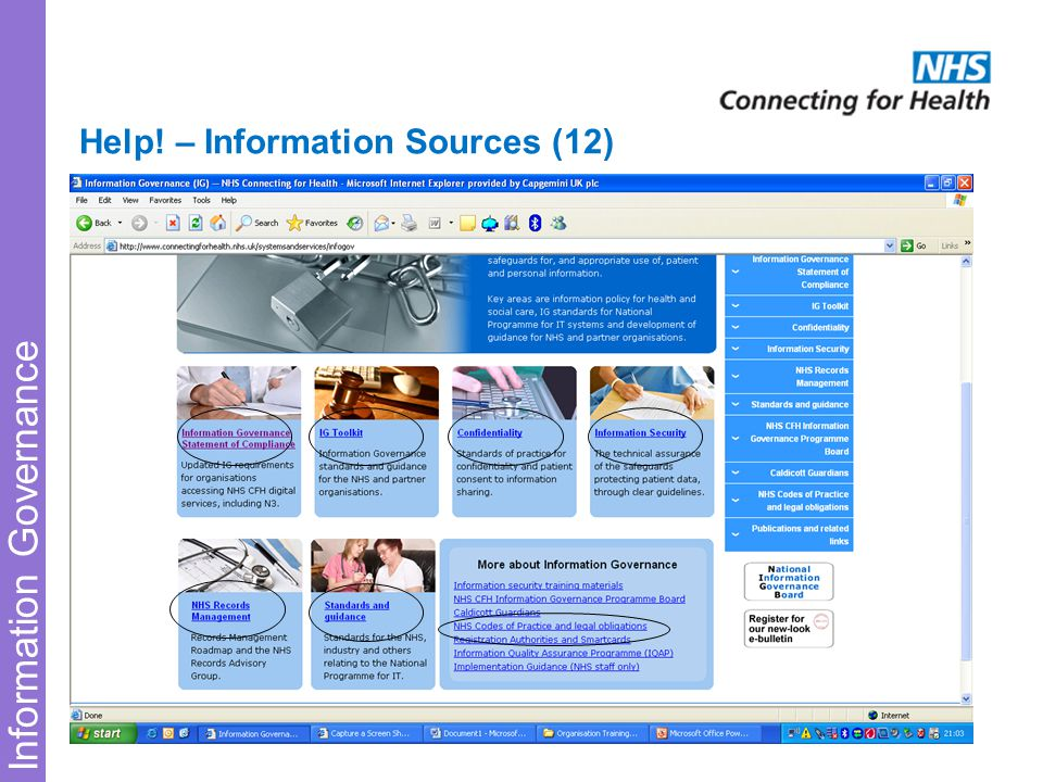 Information Governance Help! – Information Sources (12)
