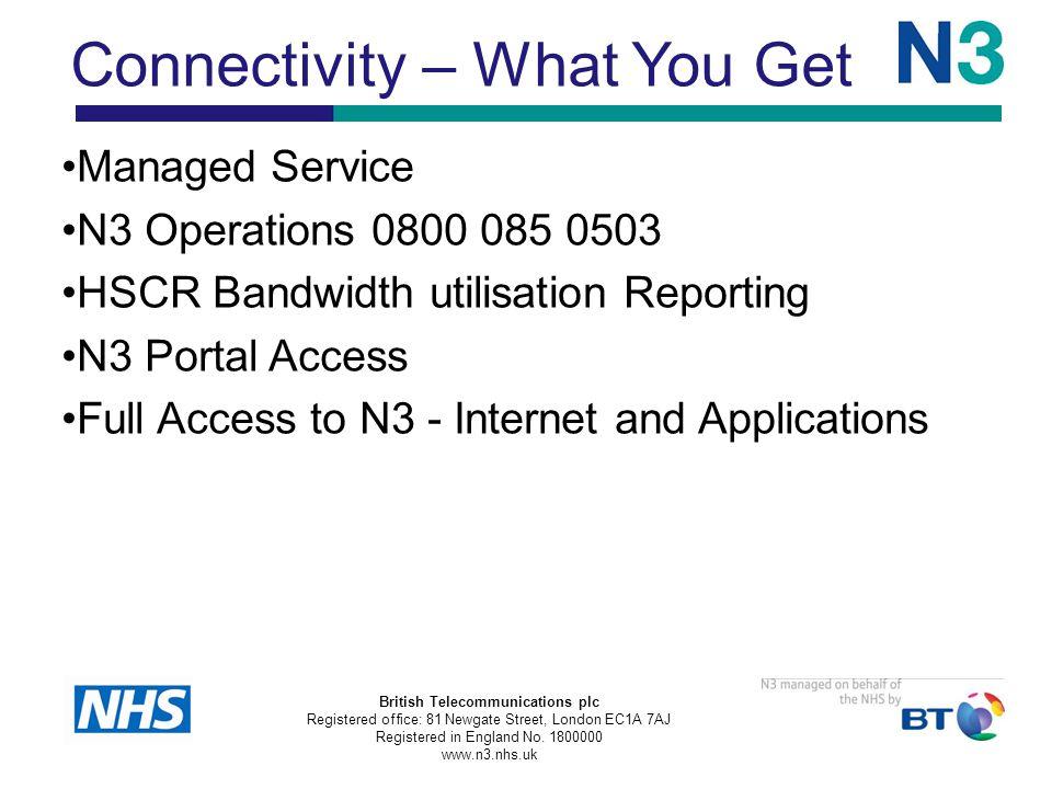 British Telecommunications plc Registered office: 81 Newgate Street, London EC1A 7AJ Registered in England No.