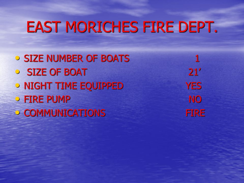 EAST MORICHES FIRE DEPT.