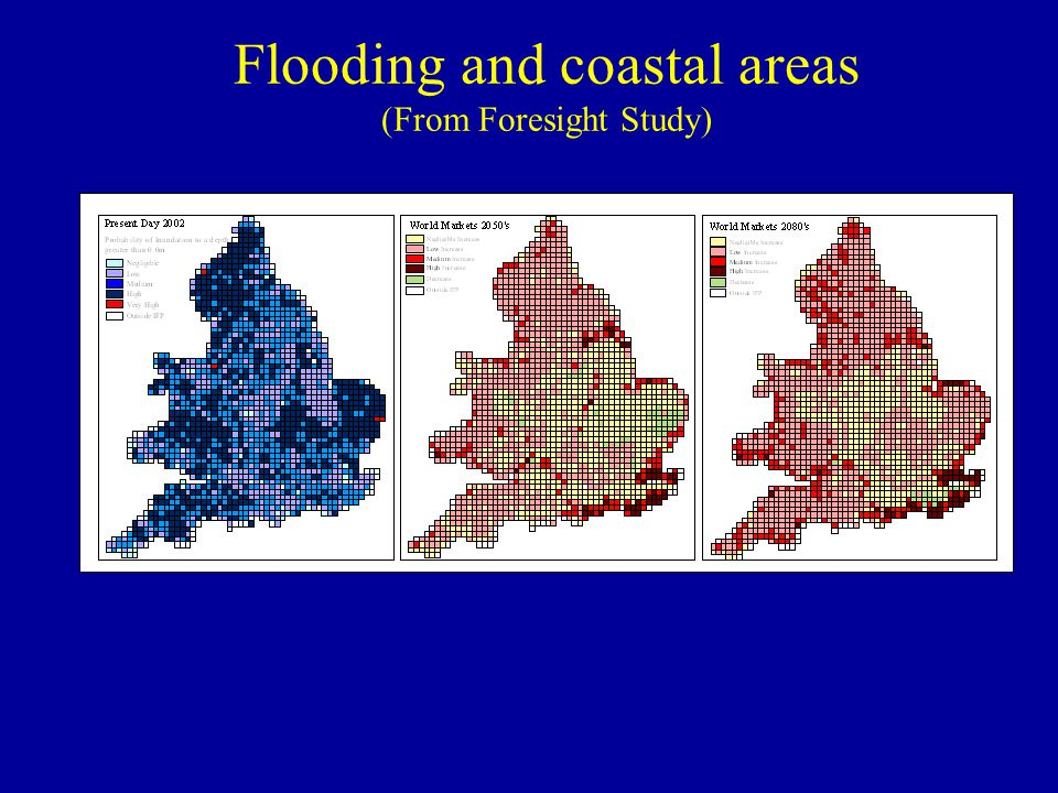 Flooding and coastal areas (From Foresight Study)