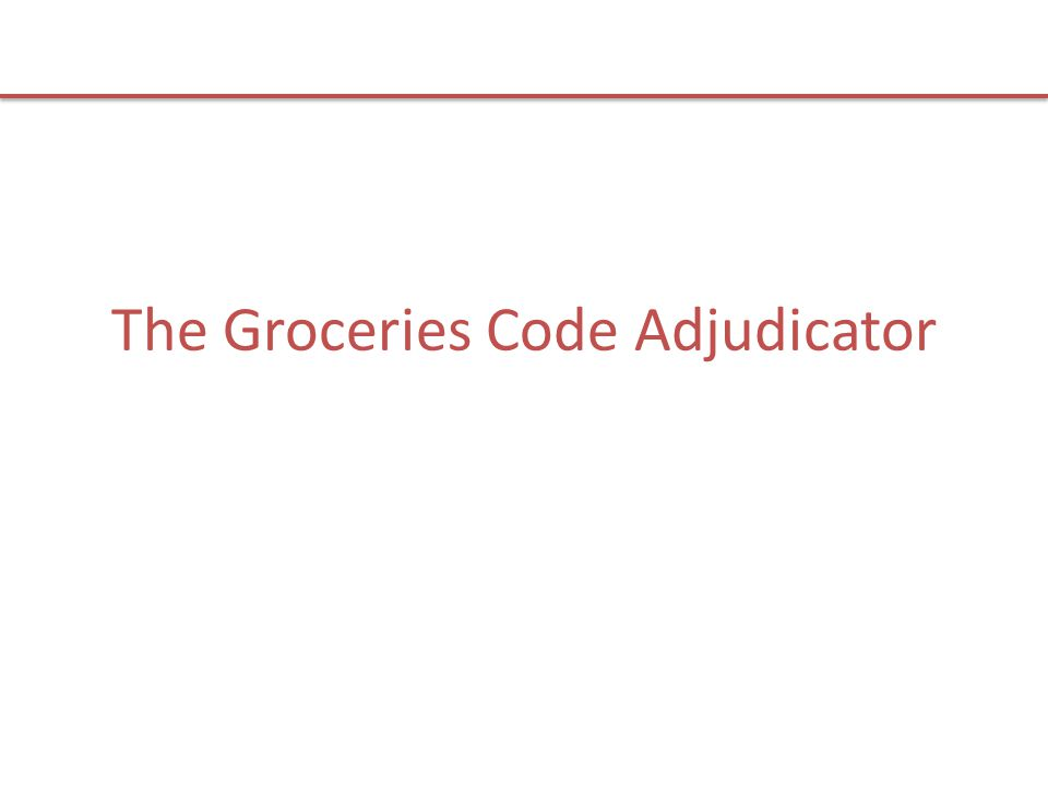 The Groceries Code Adjudicator